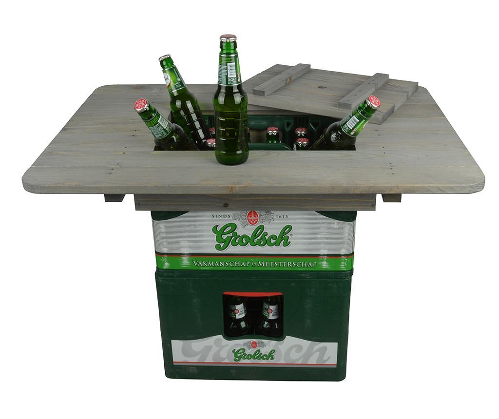 Blat pentru lada de bere Drink up - Esschert Design, Gri & Argintiu
