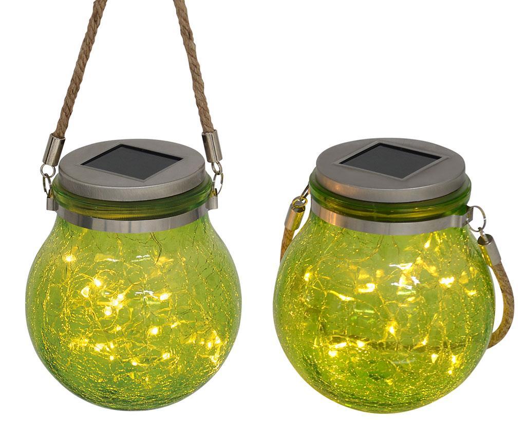 Set 2 felinare solare cu LED Henley Green - Näve, Verde