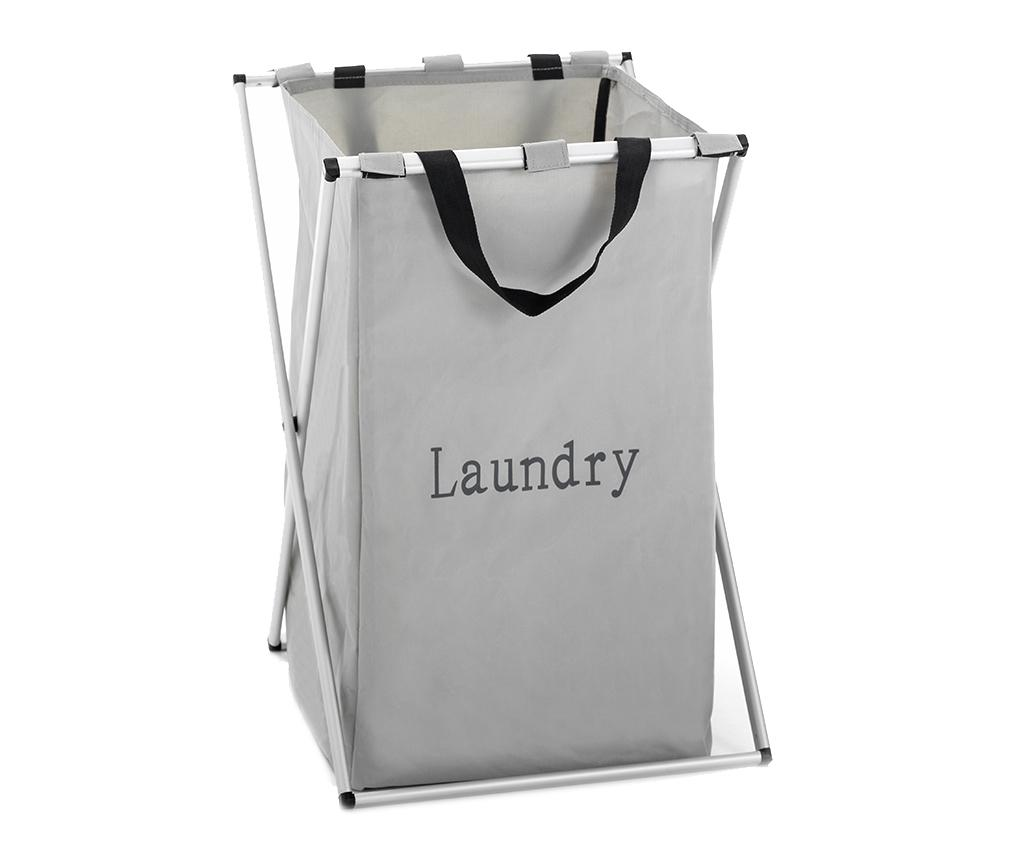 Cos pliabil pentru rufe Laundry X - Tomasucci, Gri & Argintiu