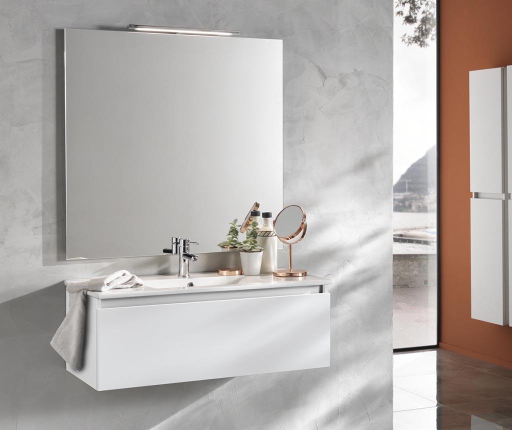 Set mobilier pentru baie 4 piese Ibiza Ultra White - TFT Home Furniture, Alb