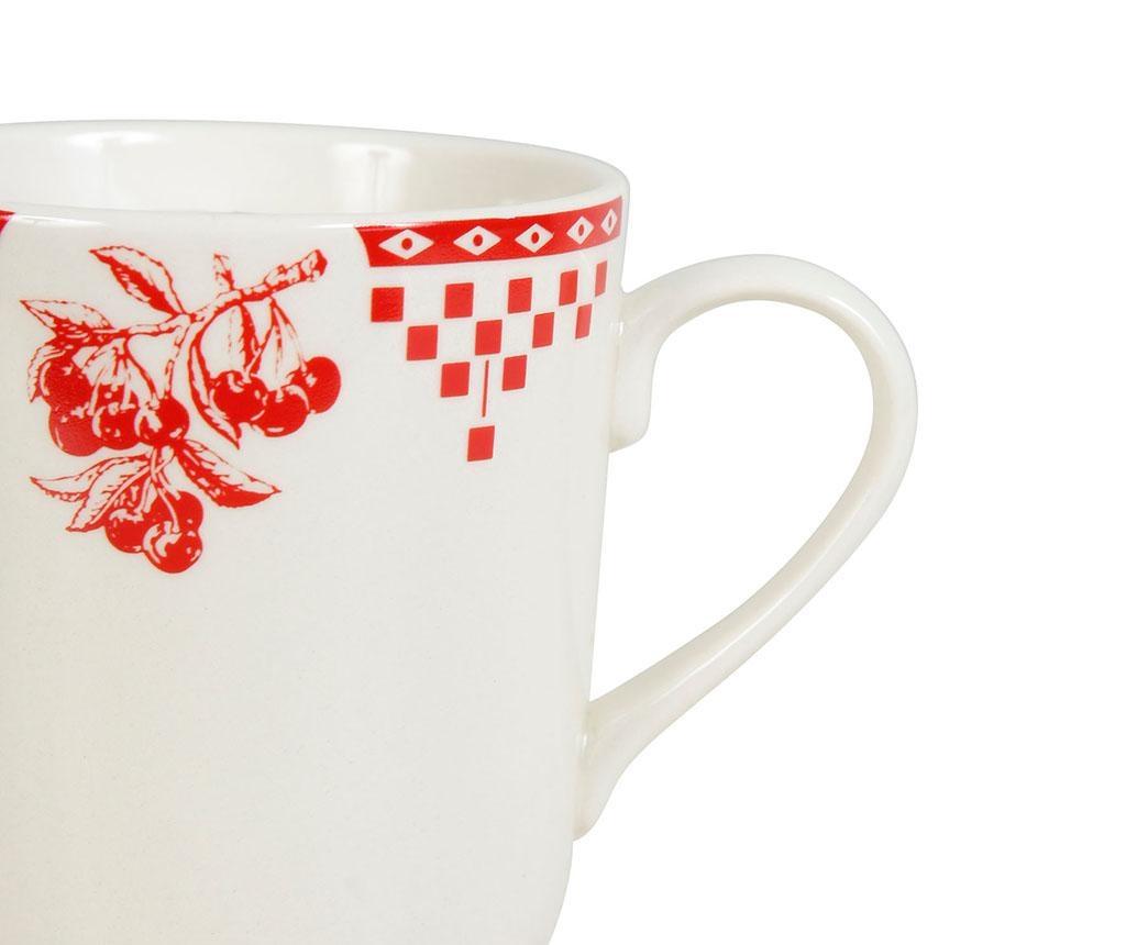 Šalica Damier Red 345 ml
