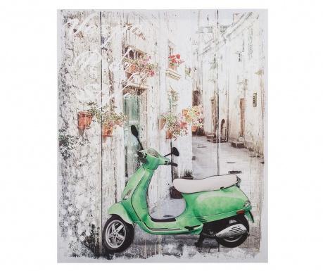 Moped 3D Kép 50x60 cm
