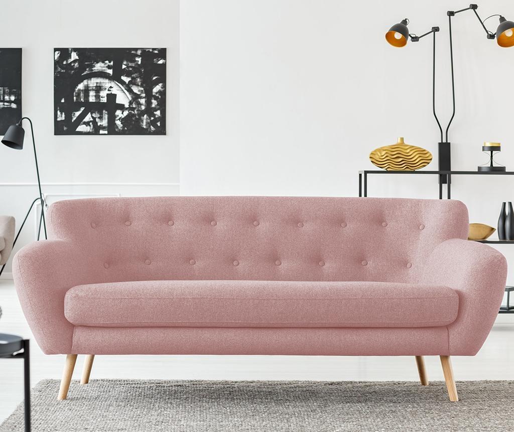 Canapea 3 locuri London Light Pink