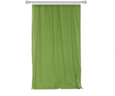 Zastor Polka Dots Green 170x270 cm