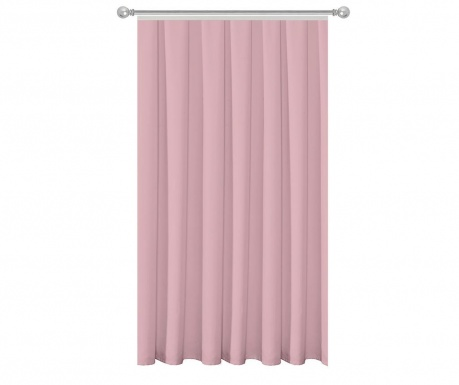 Zastor Plain Powder Pink 140x270 cm