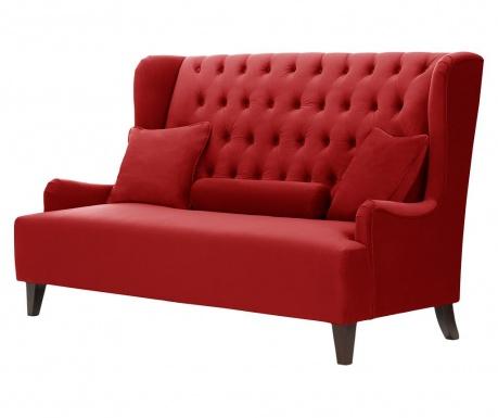 Dvoumístná pohovka Flanelle Glamour Red