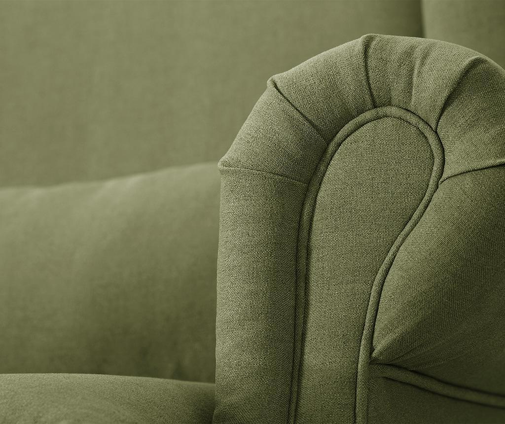 Canapea 3 locuri Alpaga Dark Green