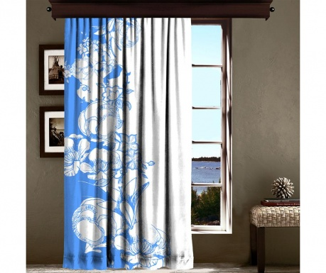 Draperie Efflorescence Blue 140x260 cm