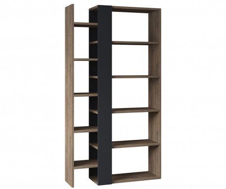 Regal za knjige Lift Dark Oak Anthracite