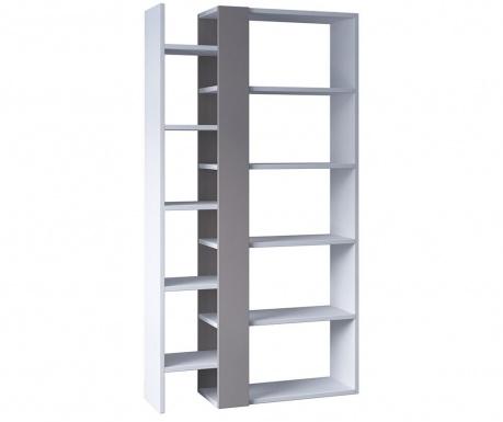 Regal za knjige Lift White Light Mocha