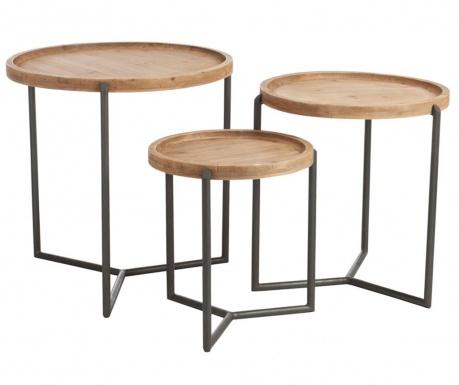 Sada 3 stolíkov Rina