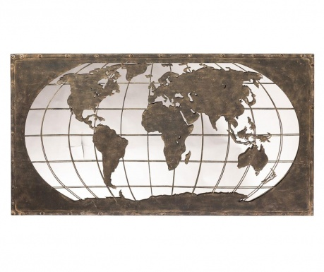 Decoratiune cu oglinda World Map