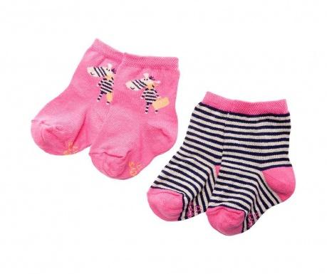 Set 2 para čarapa Zebra Life