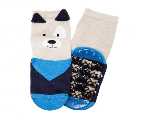Чорапи с нехлъзгаща се подметка Dogster Blue