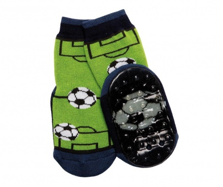 Sosete cu talpa antiderapanta Football Green