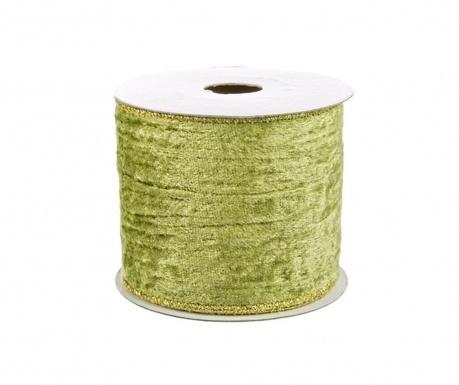 Ribbon Green Gold Dekoratív szalag