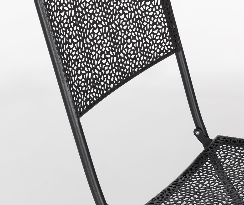 Сгъваем стол за екстериор Kennen Dark Grey