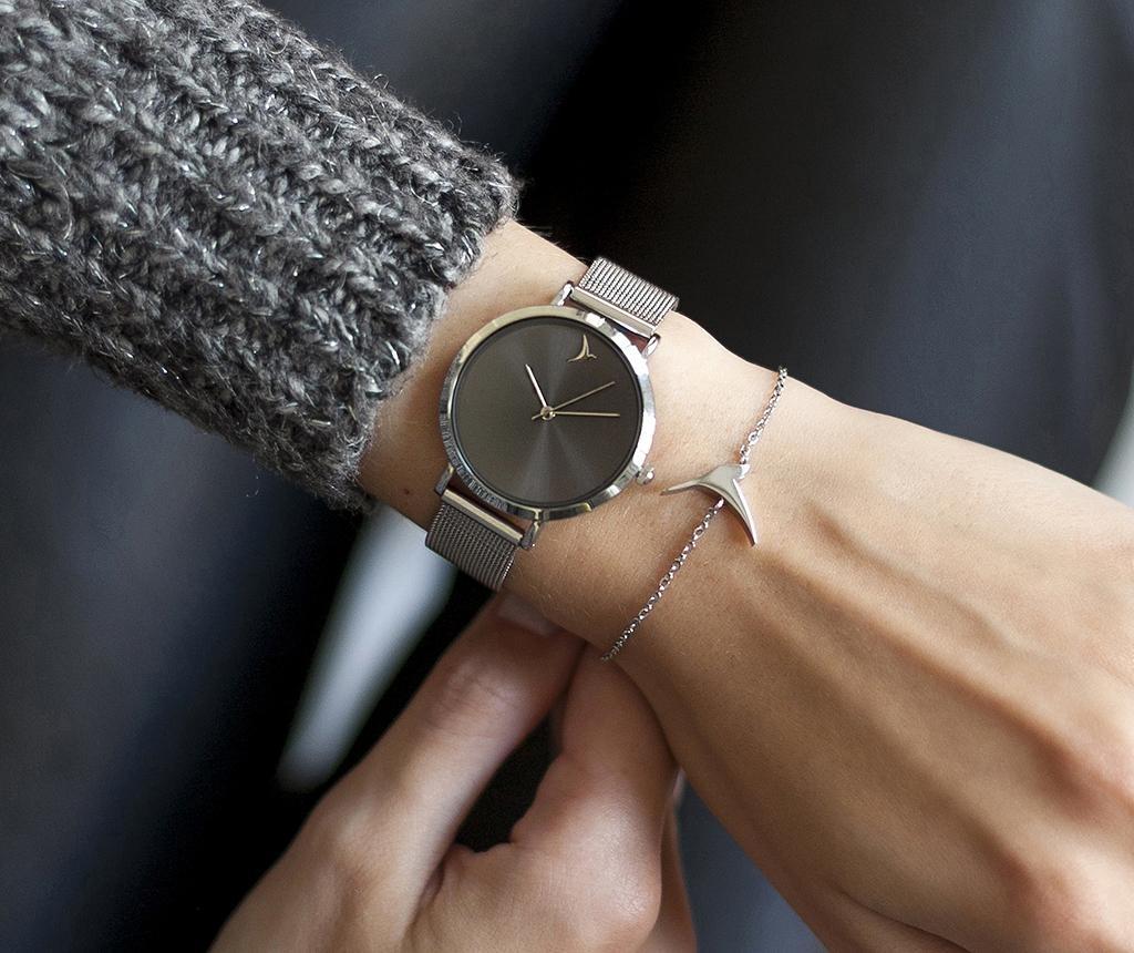 Ženski ručni sat Emily Westwood Dark Glam Silver