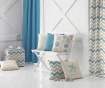 Prevleka za blazino Chevron Trio Light Blue Beige 43x43 cm