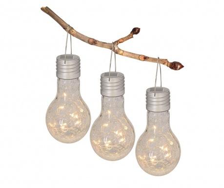 Set 3 lampi solare suspendabile Paisley