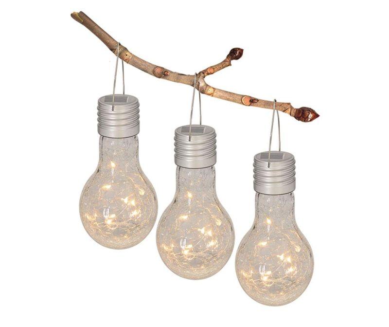 Set 3 visečih solarnih svetilk Paisley