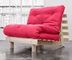 Sofa extensibila Roots Natural and Magenta 90x200 cm