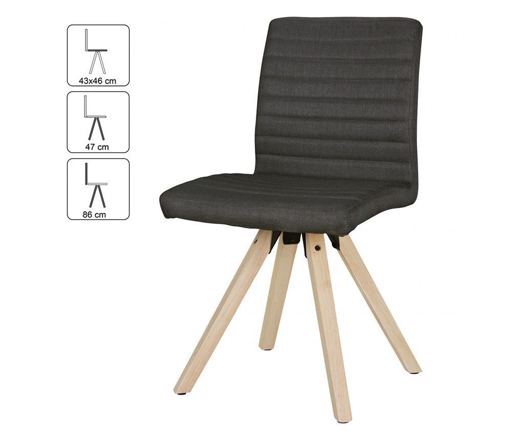 Zestaw 2 krzeseł Sola Anthracite