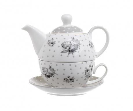 Комплект чайник с чашка и чинийка Gardenia