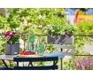 Set jardiniera cu sistem de autoirigare cu fitil si suport Balconissima Slate