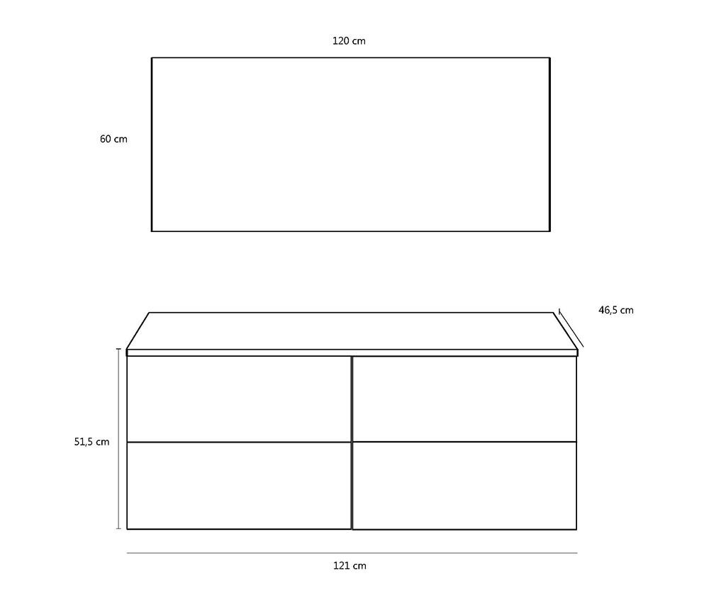 6-dijelni set namještaja za kupaonicu Luna Double Gloss White