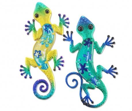 Set 2 decoratiuni de perete Lizard Astrea