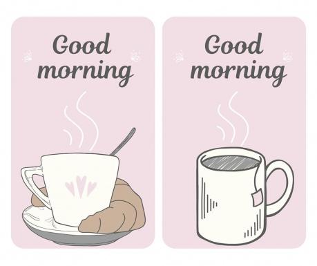 Good Morning 2 db Tűzhelyvédő lap