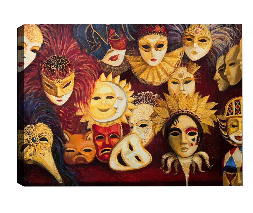 Tablou Masquerade 40x60 cm - Tablo Center, Multicolor
