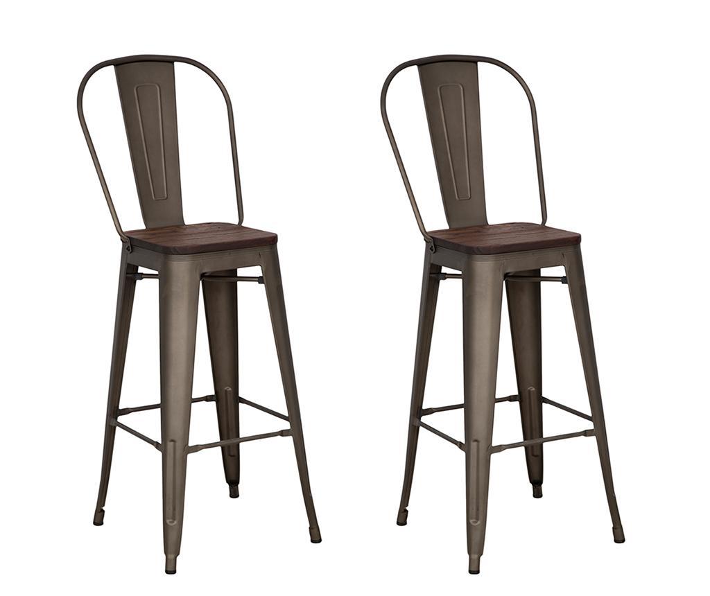Set 2 scaune de bar Detroit - Mauro Ferretti, Maro