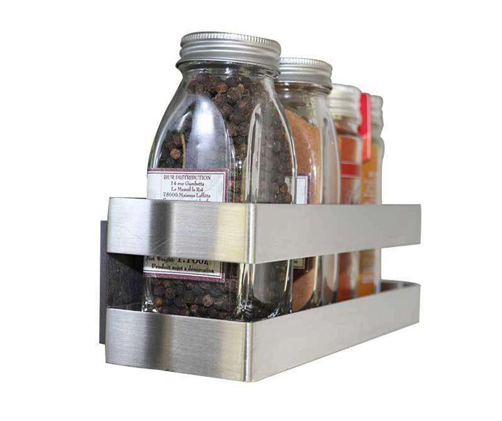 Suport magnetic pentru condimente Kieron - Compactor, Gri & Argintiu
