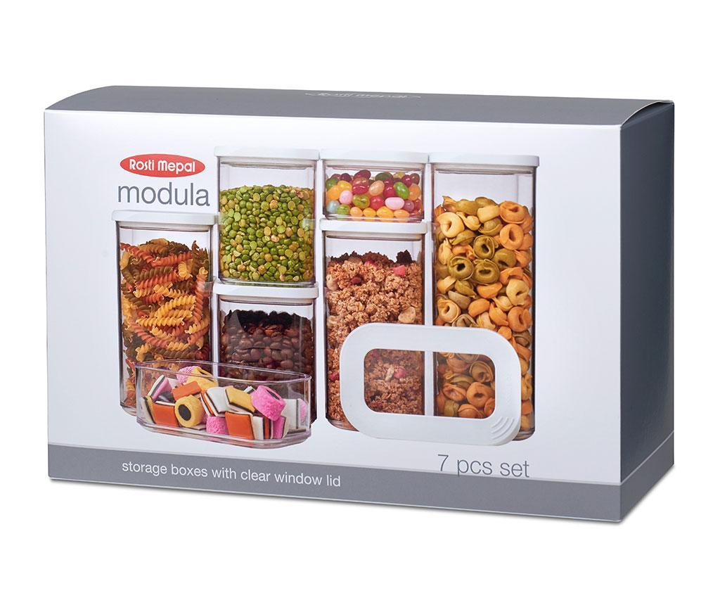 Set 7 recipiente Modula - Rosti Mepal, Alb