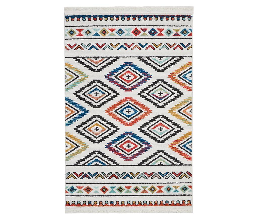 Covor Navajo Six White 160x229 cm - Nourison, Alb