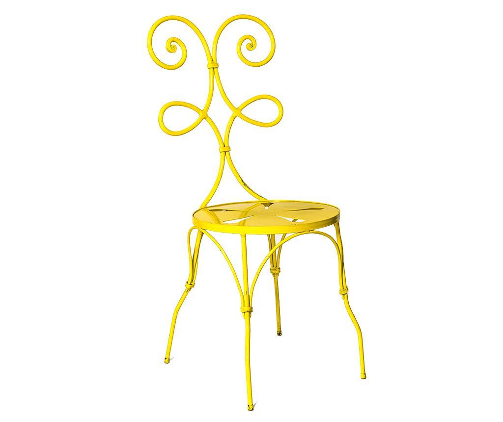 Scaun pentru exterior Sunny Yellow - Boriana, Galben & Auriu