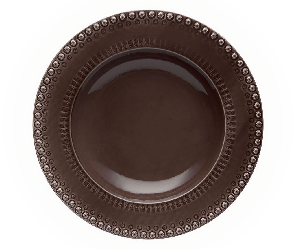 Farfurie pentru paste Fantasia Cocoa - Bordallo Pinheiro, Maro