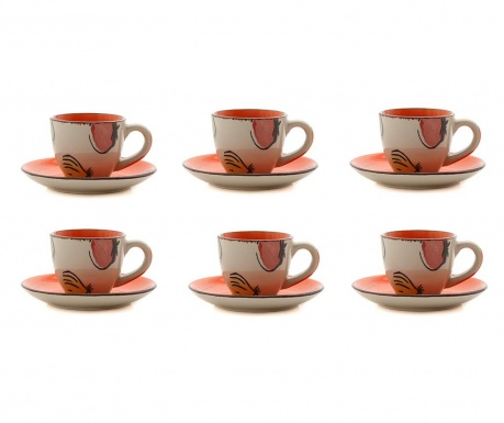 Сервиз 6 чашки и 6 чинийки Selenta