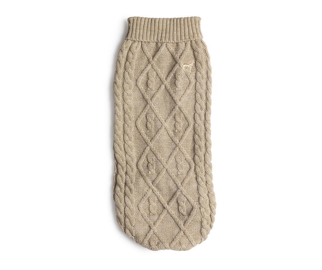 Plašč za hišne ljubljenčke Cozy Knit Oatmeal M