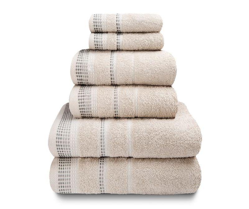 Set 6 kupaonskih ručnika Berkley Natural