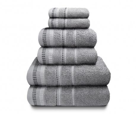 Zestaw 6 ręczników kąpielowych Berkley Silver