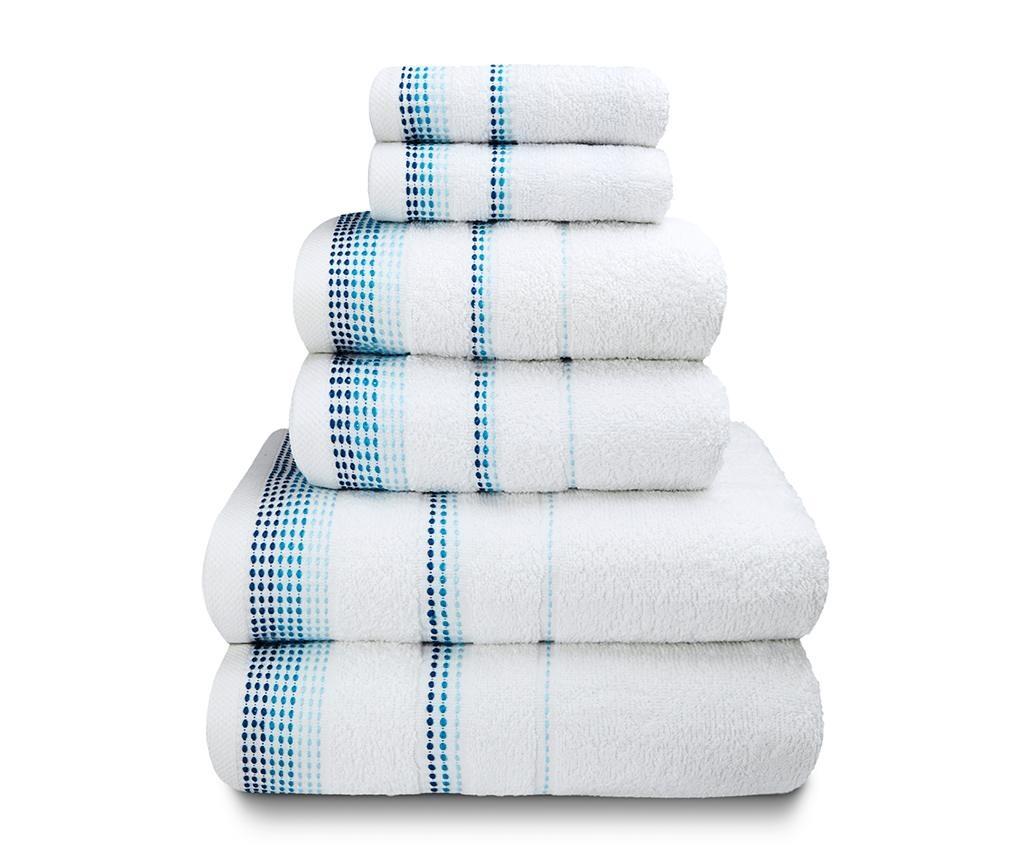 Set 6 kupaonskih ručnika Berkley White