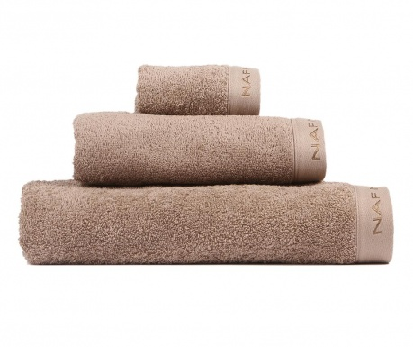 Sada 3 ručníků Casual Brown