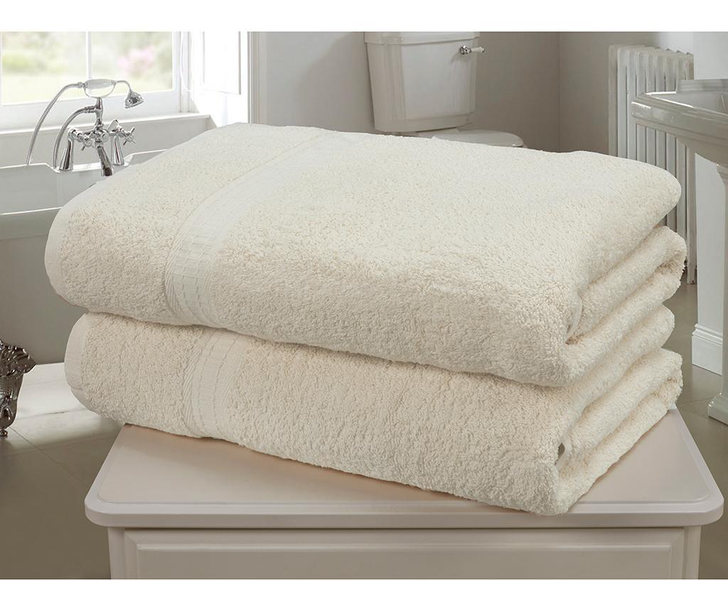 Set 2 kupaonska ručnika Royal Kensington Cream 90x140 cm