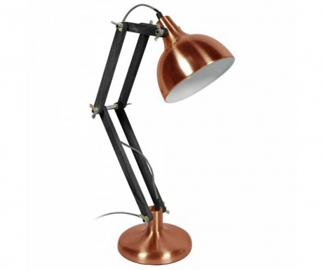Stolná lampa Dexter Chrome Black
