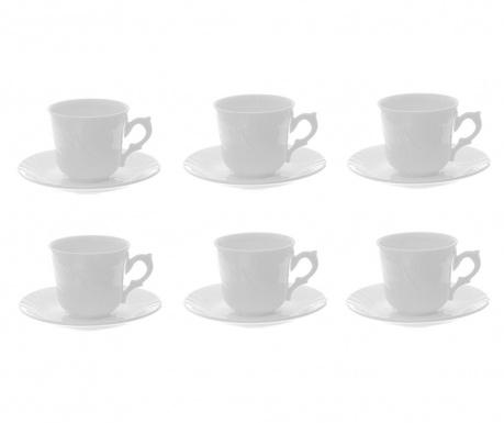 Сервиз 6 чашки и 6 чинийки Blanca
