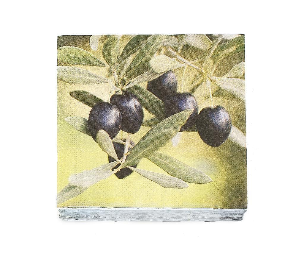 Set 20 namiznih prtičkov Olive
