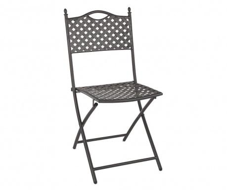 Składane krzesło zewnętrzne Jenny Dark Grey